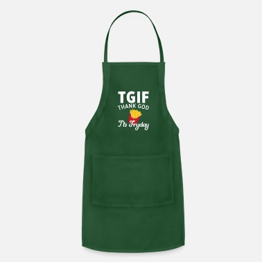 French Funny French Fries Designs - Adjustable Apron