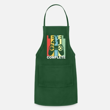 Girl Gamer 41 Birthday Gamer level 41 complete - Apron