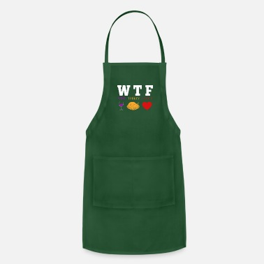 Family Wine Turkey Family Shirt Funny Thanksgiving Day - Adjustable Apron
