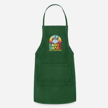 Son In Law Retro Vintage Daddy Shark Tshirt gift for Father - Adjustable Apron