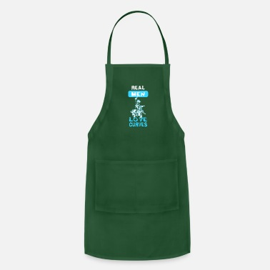 Motocycle Real Men Love Curves Motocycle Design Gift Idea - Adjustable Apron