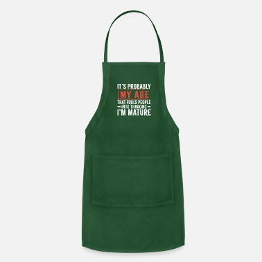Mature Funny Old Designs - Apron