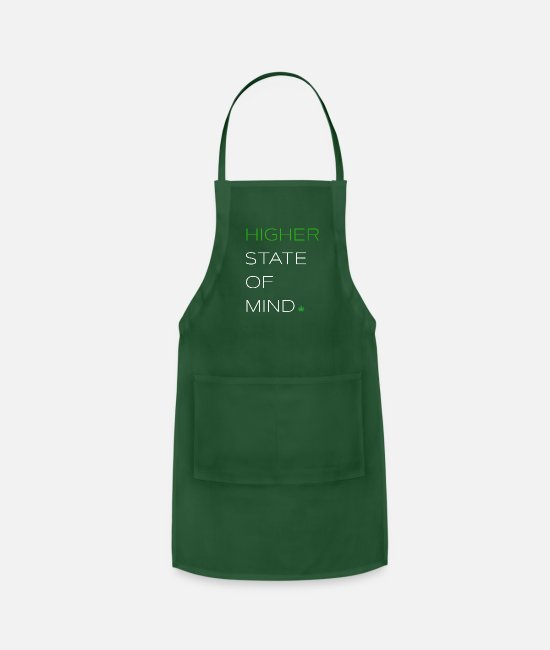 Hemp Aprons - HIGHER STATE OF MIND - Apron forest green