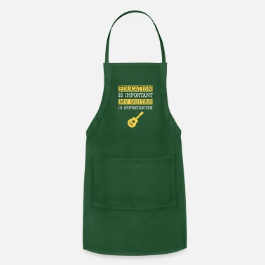 Education Culture Funny Education is Important My Guitar Is - Apron