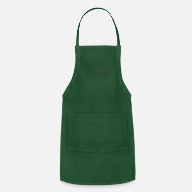 Notion Feminism Is The Radical Notion That Women - Apron