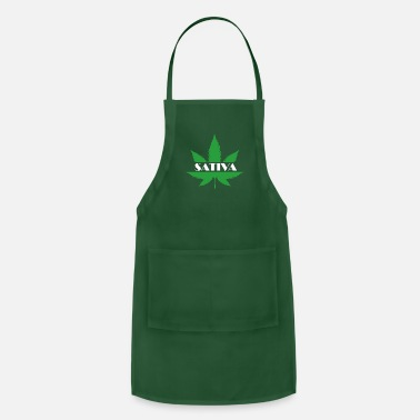 Hemp SATIVA Shirt for everybody who wants to celebrate - Apron