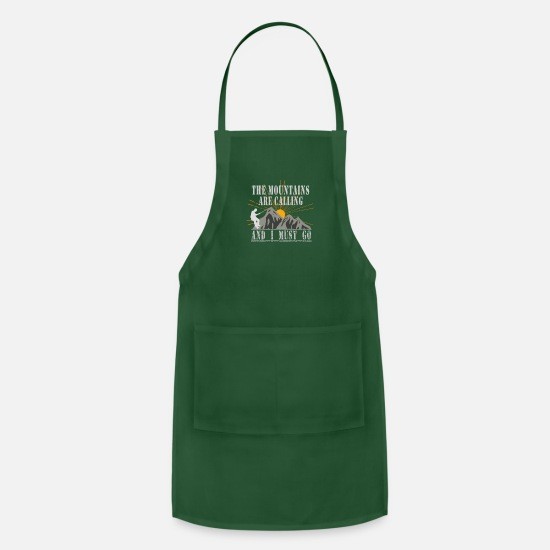 Club Aprons - Mountain Climb Climbing Shirt - Apron forest green