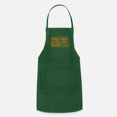 Forward Real men smell like BARBECUE - Funny BBQ gift idea - Apron