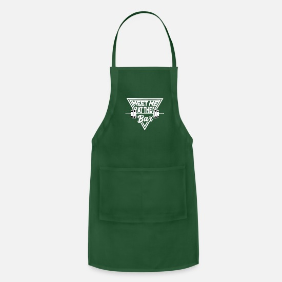 Body Builder Aprons - Fitness Bar Bodybuilding Muskel Gym Geschenk - Apron forest green
