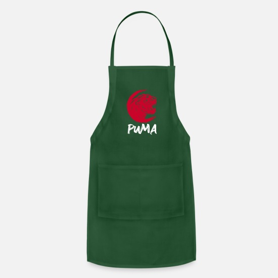 Gift Idea Aprons - cougar - Apron forest green