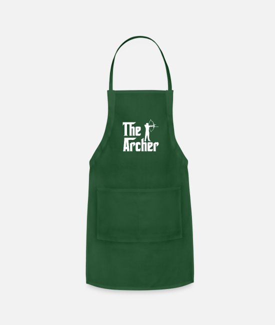 Movie Aprons - The Archer - Apron forest green