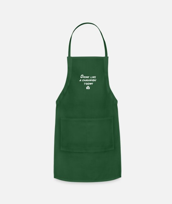 Fighting Aprons - Drink Like a Champion - Apron forest green