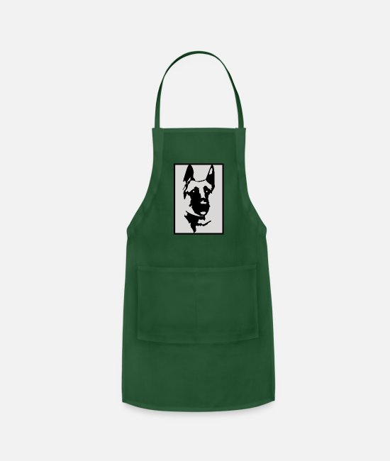 Shepherd Aprons - (German Shepherd) - Apron forest green