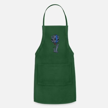 Sheepdog Police Sheepdog Police Thin Blue Line Wolf Law Enforcemen - Apron
