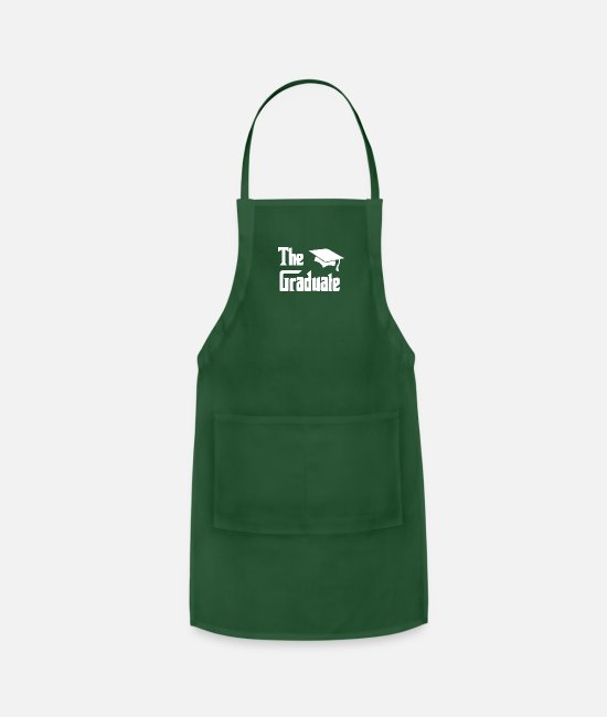 Graduation Aprons - The Graduate Graduation - Apron forest green