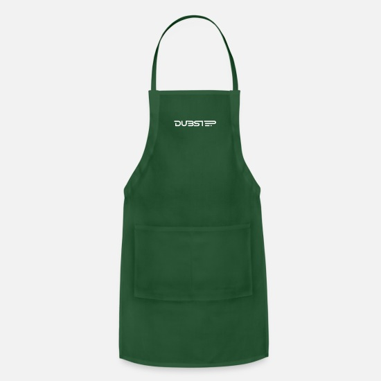 Geek Aprons - Dubstep - Apron forest green