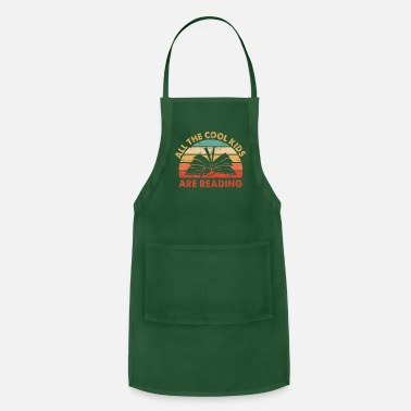 All the Cool Kids are Reading Retro Vintage Sunset - Apron