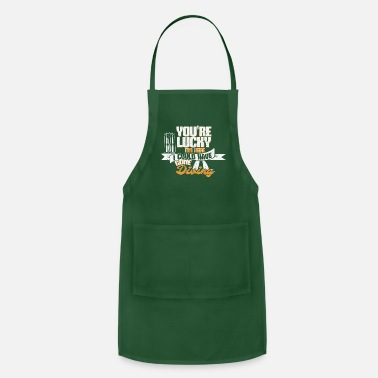 Witty design featuring an oxygen underwater rebre - Apron