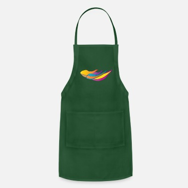 Layout The Abstract layout of leaves and fishes - Adjustable Apron