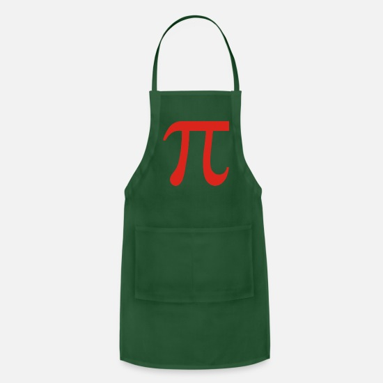 Science Aprons - Pi Symbol - Apron forest green