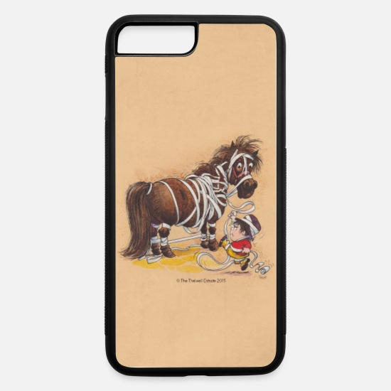 Pony iPhone Cases - Thelwell Bandagen Handycover - iPhone 7 & 8 Plus Case white/black