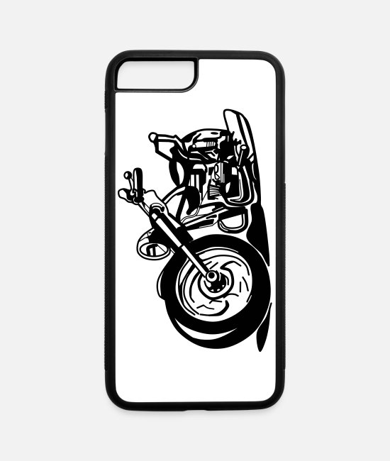 Road Bike iPhone Cases - American Chopper - iPhone 7 & 8 Plus Case white/black