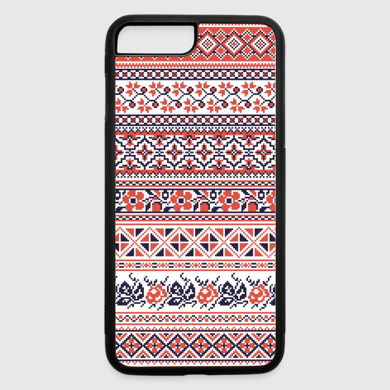 Collection cross-stitch pattern - iPhone 7 Plus/8 Plus Rubber Case