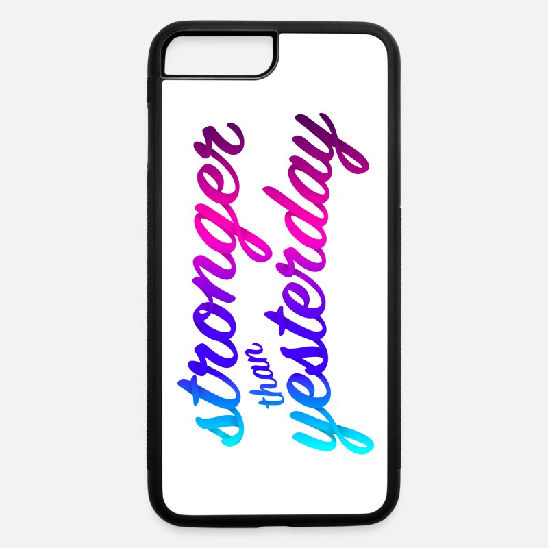 Gym iPhone Cases - Fitness Gym Motivation - iPhone 7 & 8 Plus Case white/black