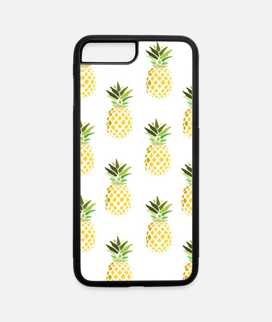 Pattern iPhone Cases - pineapple - iPhone 7 & 8 Plus Case white/black