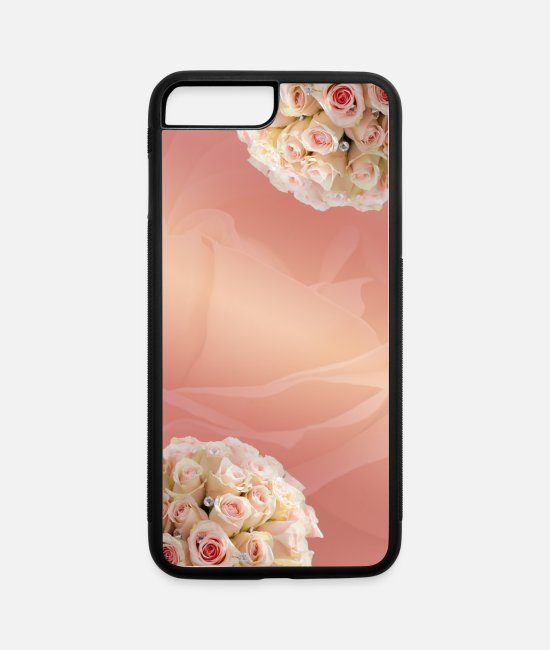 Easy iPhone Cases - Floral Plain - iPhone 7 & 8 Plus Case white/black