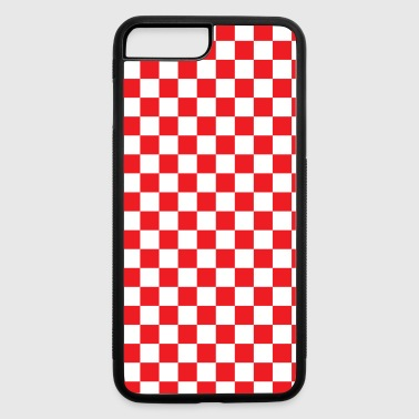 Red Checkerboard - iPhone 7 Plus/8 Plus Rubber Case