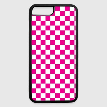Pink Checkerboard - iPhone 7 Plus/8 Plus Rubber Case