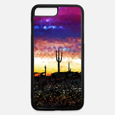 Arizona Desert Silhouette Scene. - iPhone 7 Plus/8 Plus Rubber Case