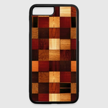 Fathers Day wood block pattern - iPhone 7 Plus/8 Plus Rubber Case