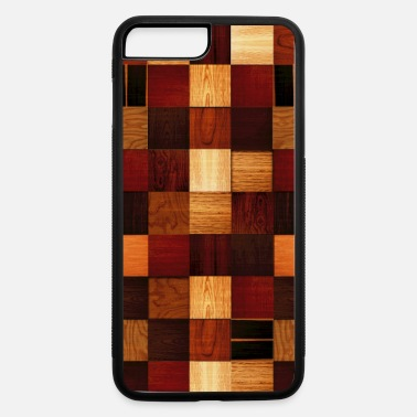 wood block pattern - iPhone 7 Plus/8 Plus Rubber Case