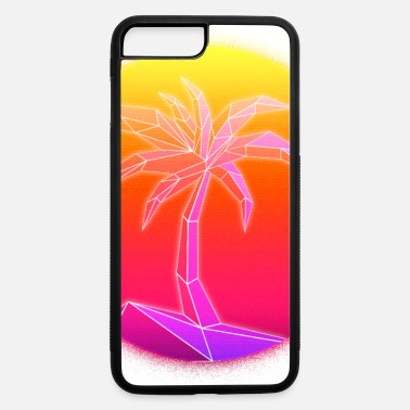 Outrun Style Sunset Palmtree, 80's Style - iPhone 7 & 8 Plus Case