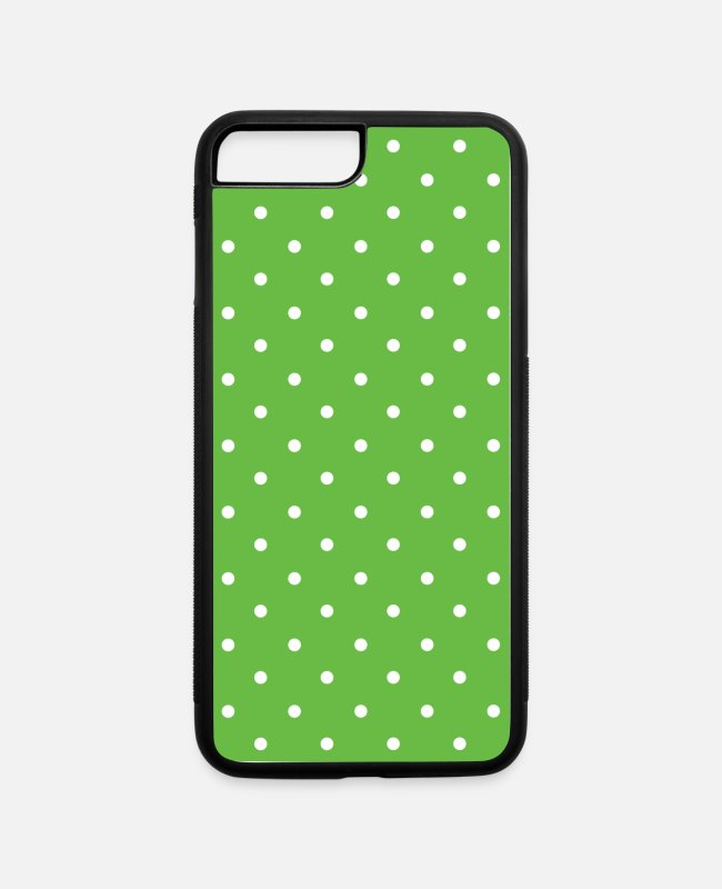 Pattern iPhone Cases - Light Green Dot Pattern Decorative Background - iPhone 7 & 8 Plus Case white/black