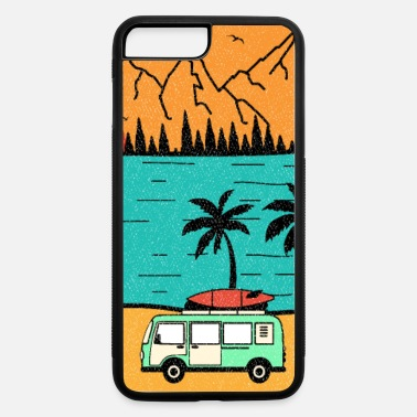 Hippie Retro Hippie Surfing Van Beach Bum Surfer 70s 80s - iPhone 7 & 8 Plus Case