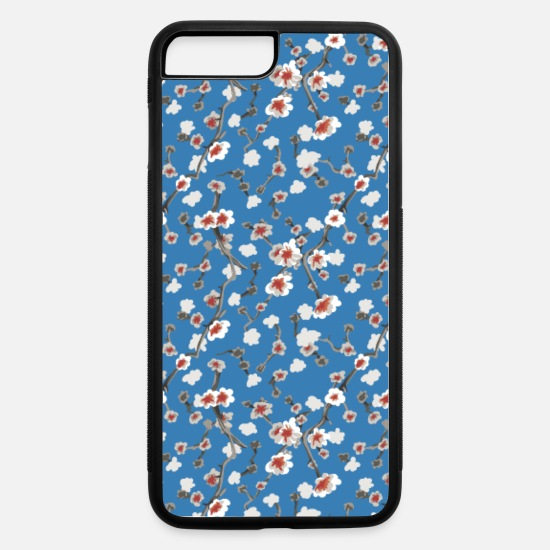 Blossom iPhone Cases - Almond Blossom Pattern - iPhone 7 & 8 Plus Case white/black
