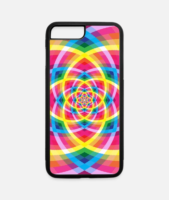 Artist iPhone Cases - Colorful Pattern - iPhone 7 & 8 Plus Case white/black