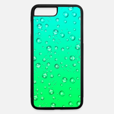 Water Greenish gradient color with water drops case - iPhone 7 & 8 Plus Case