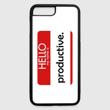 HELLO my name is productive - iPhone 7 Plus/8 Plus Rubber Case