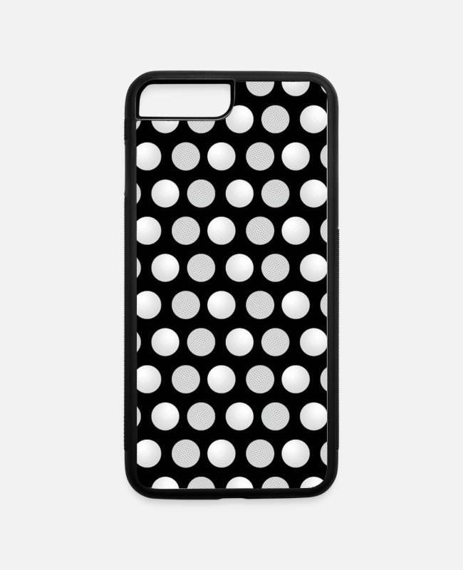 Ball iPhone Cases - Golf Balls Pattern Golfers Golfing Sports Lovers - iPhone 7 & 8 Plus Case white/black