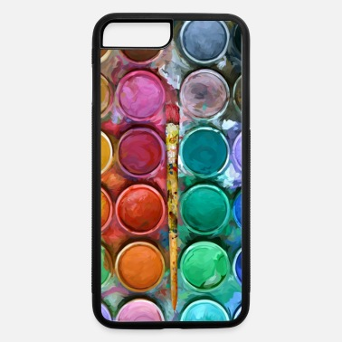 watercolor rainbow abstraction pallete Phone case - iPhone 7 & 8 Plus Case