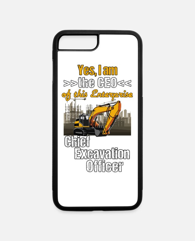 Operator iPhone Cases - Excavator Operator - CEO Chief Exvacation Officer - iPhone 7 & 8 Plus Case white/black