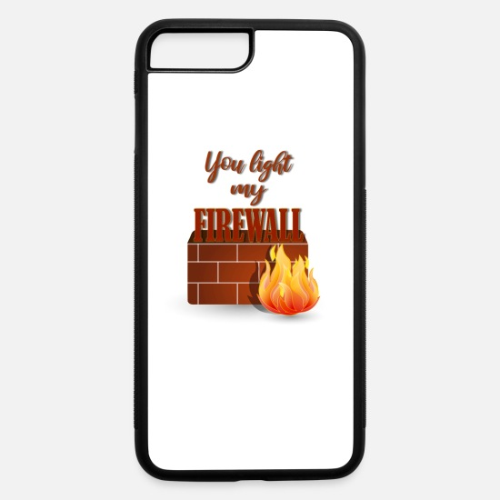 Birthday iPhone Cases - Computer Coding Tshirt Firewall Shirt W Gift Tee - iPhone 7 & 8 Plus Case white/black