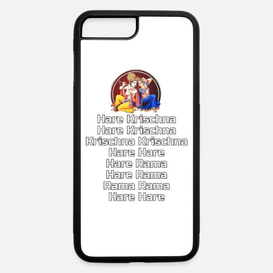 Iskcon iPhone Cases - Hare Krishna Maha Mantra in German - iPhone 7 & 8 Plus Case white/black