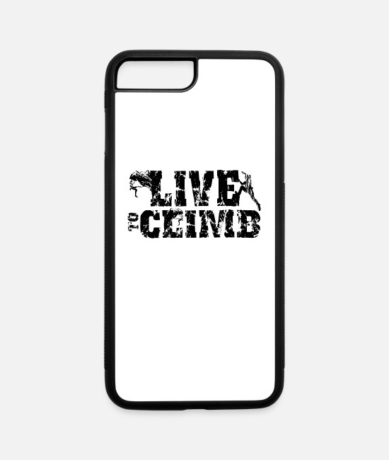 Mountains iPhone Cases - Climbing Climber Climb Bouldering Boulderer - iPhone 7 & 8 Plus Case white/black