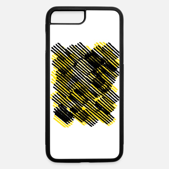 Stripe iPhone Cases - Black yellow stripes - iPhone 7 & 8 Plus Case white/black