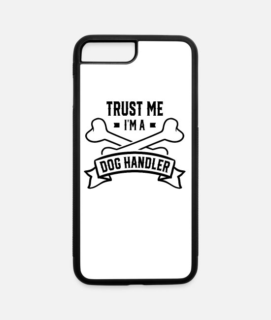 Master iPhone Cases - Team Trainer Dog Handling Handle Walk Dogs Handler - iPhone 7 & 8 Plus Case white/black